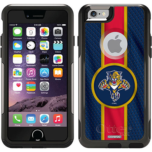 Florida Panthers Jersey Stripe Design on OtterBox Commuter Series Case for Apple iPhone 6 by Coveroo