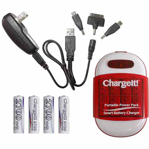 PC Treasure 08856 ChargeIt Portable Powerbank Pack, Red