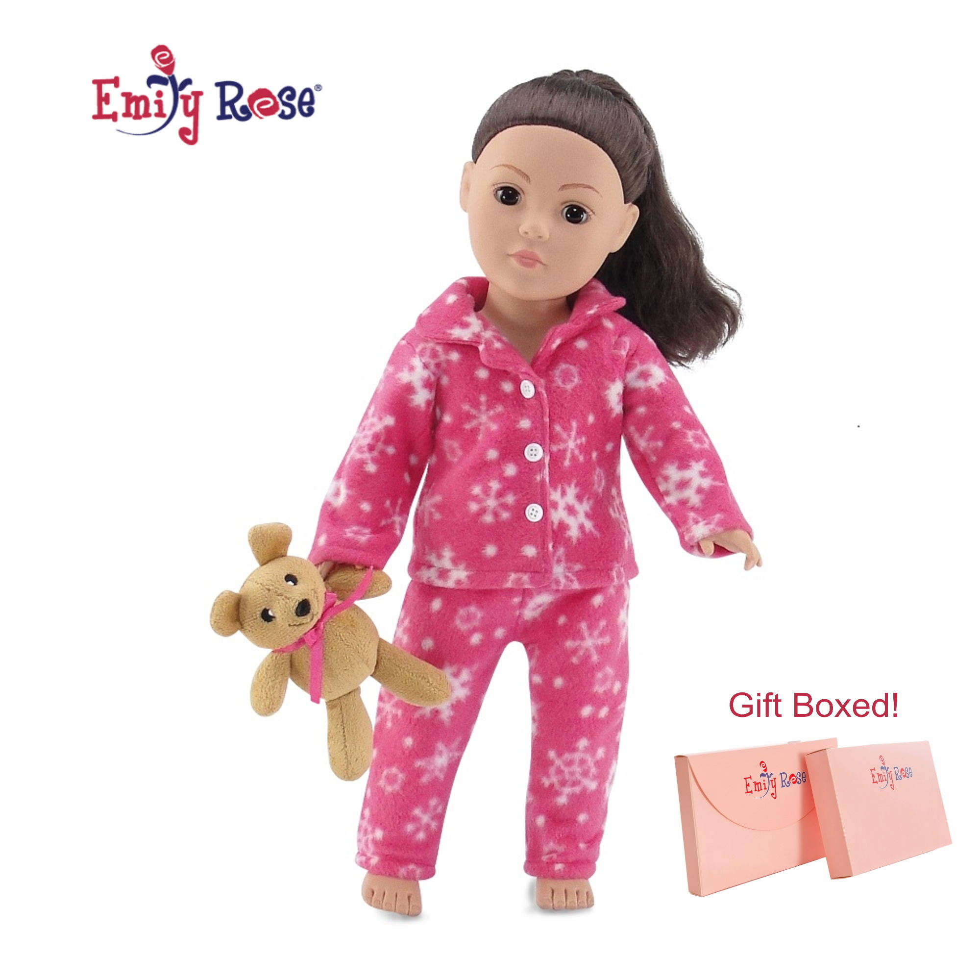 Doll Clothing for 18 Inch Doll Pajama Set & Doll Slippers