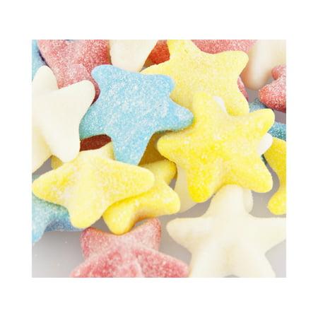 Sour Gummi Sea Stars 1 pound bulk sour gummi candy - Star Shaped Candy