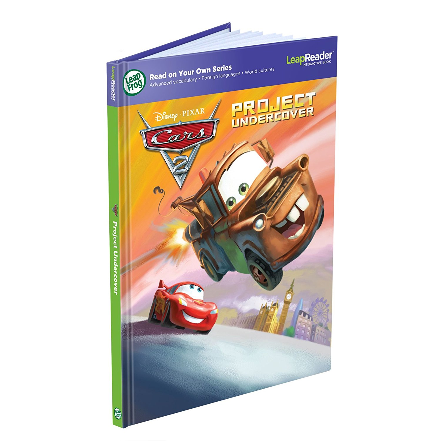 LeapReader Book: Disney/Pixar Cars 2: Project Undercover (works with Tag) By LeapFrog Ship from US