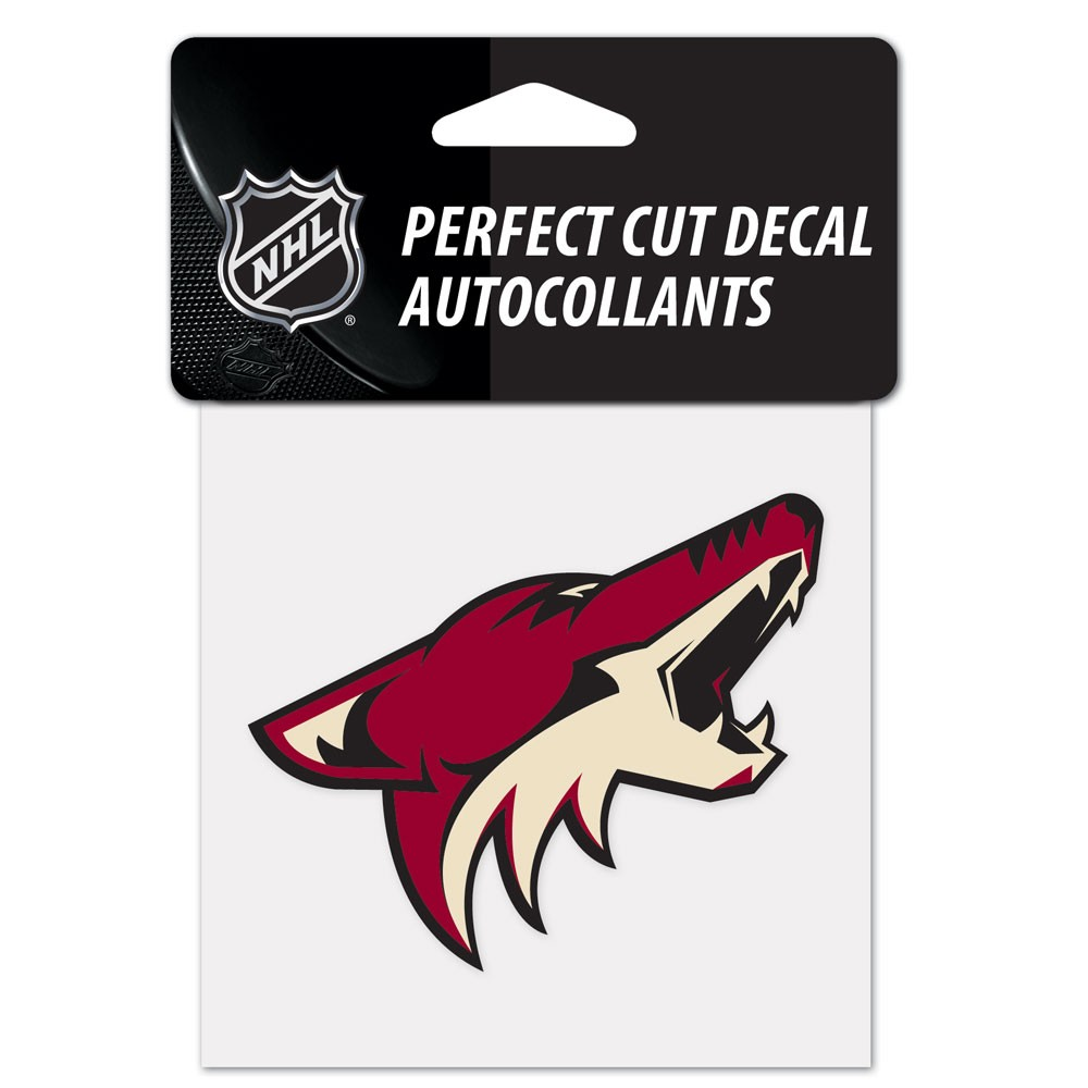 Phoenix Coyotes Official NHL 4 inch x 4 inch  Die Cut Car Decal by Wincraft