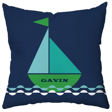 Checkerboard Ltd Personalized Smooth Sailing Throw Pillow