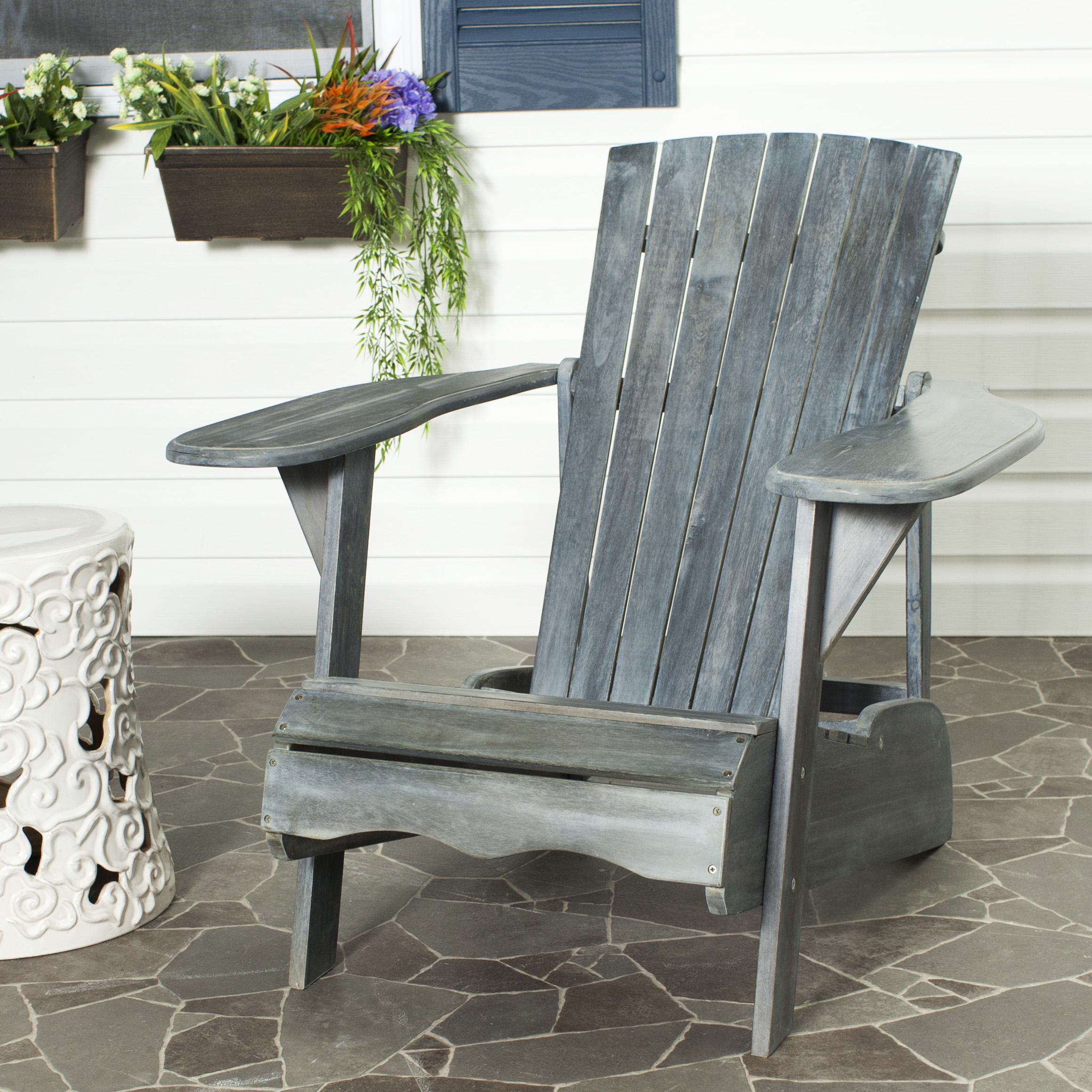 Safavieh Mopani Outdoor Contemporary Adirondack Chair