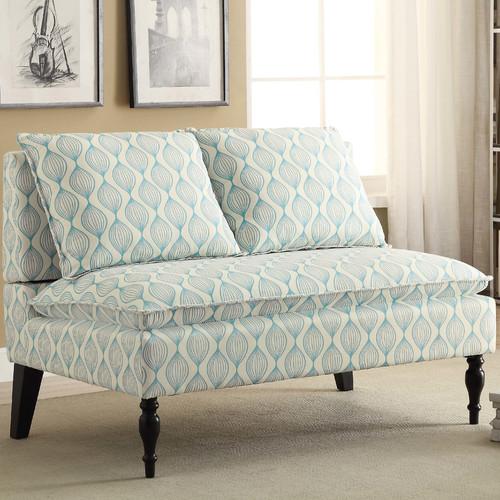 Charlton Home Hofmann Upholstered Graphic Print Banquette Sofa