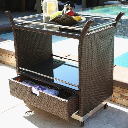 Brayden Studio Finck Bar Serving Cart by