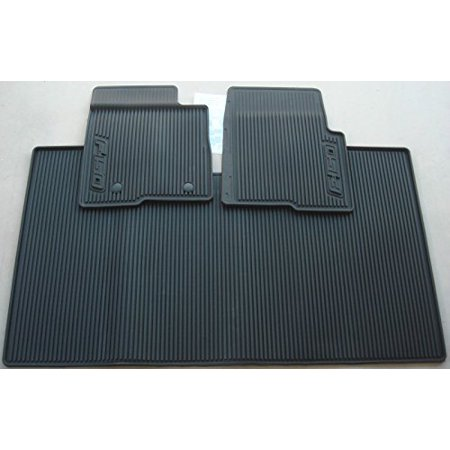 Oem Factory Stock Genuine 2011 2012 2013 2014 Ford F-150 F150 SuperCrew Without Subwoofer Black Ebony Rubber All Weather Floor Mats Set 3-pc Front & Rear