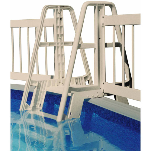 Vinyl Works Pool Ladder/Step to Fence Connector Kit in Taupe