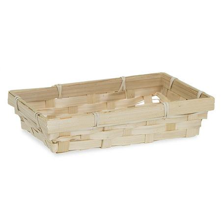 Mini Rectangular Bamboo Basket - Natural