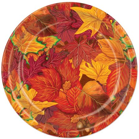 The Party Aisle Fall Leaf Plate