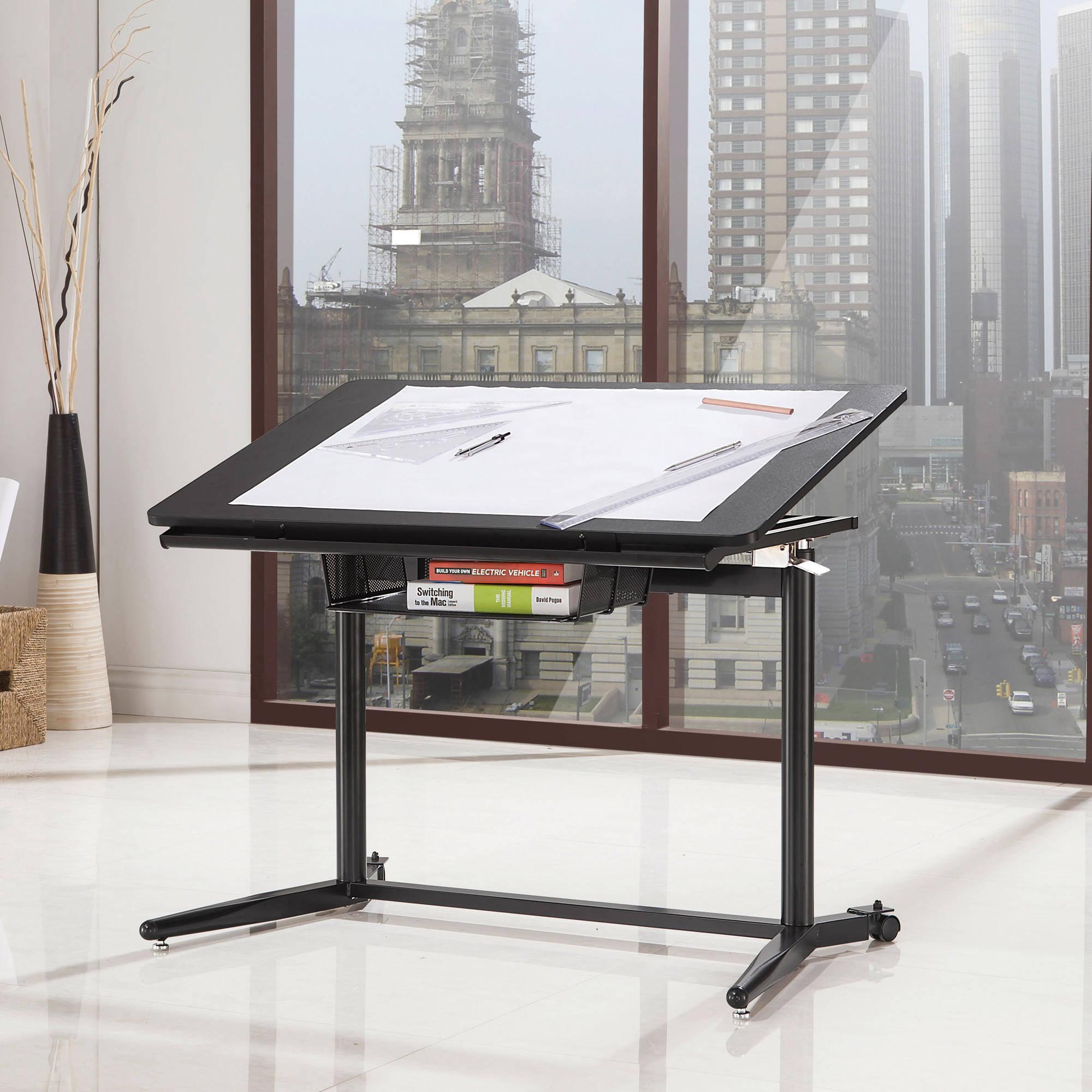 Coaster Adjustable Drafting Desk in Black