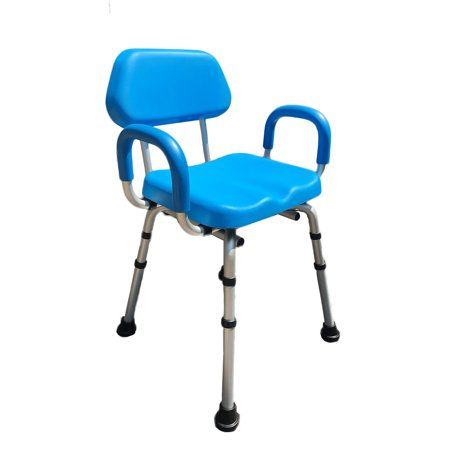 - ComfortAble(tm) Deluxe Bath / Shower Chair PADDED with Armrests - Commercial Quality