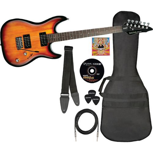 Laguna Ultimate Rock Electric Guitar and Accessory Pack Gloss Sunburst