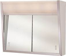 Medicine Cabinet With Sliding Doors, 2 Lights, 24 In. X 7-3 4 In. X 20 In. by RANGAIRE MFG COMPANY