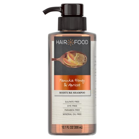 Hair Food Manuka Honey & Apricot Sulfate Free Shampoo, 10.1 fl oz Dye Free Moisturizing