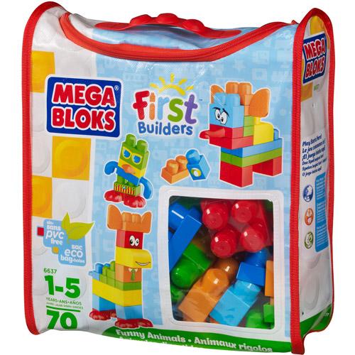 Mega Bloks First Builders Funny Animals Play Set