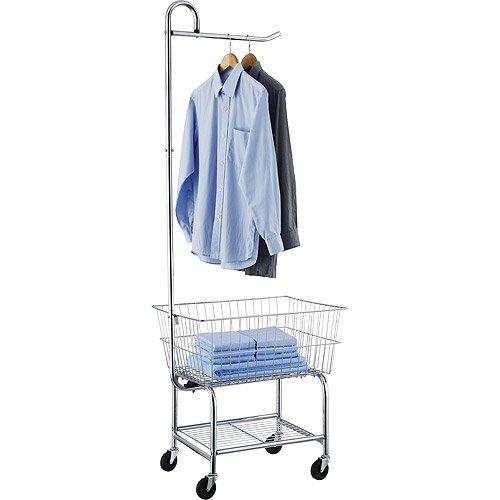 Neu Home Commercial Grade Chrome Laundry Cart Walmartcom
