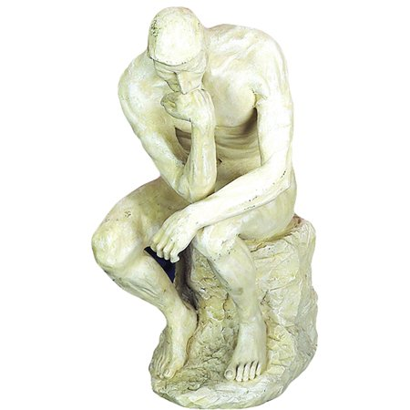 Polystone Diorama - Polystone Thinker Statue For Great Decor Lovers