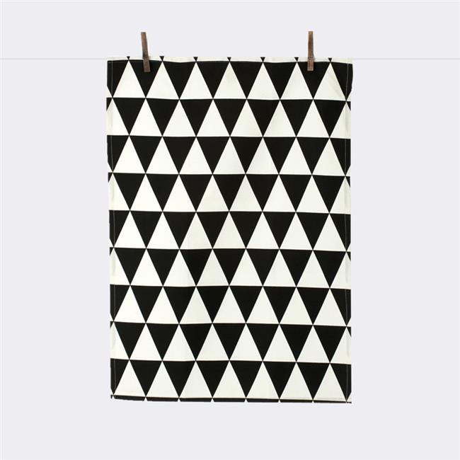 Ferm Living 5024 Hand Printed Organic Cotton Triangle Tea Towel