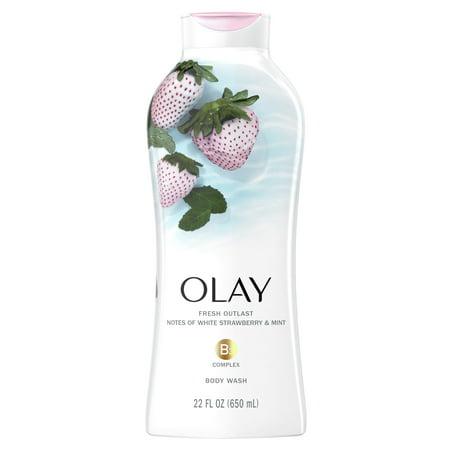 Olay Fresh Outlast Body Wash, White Strawberry and Mint, 22 fl. Oz.