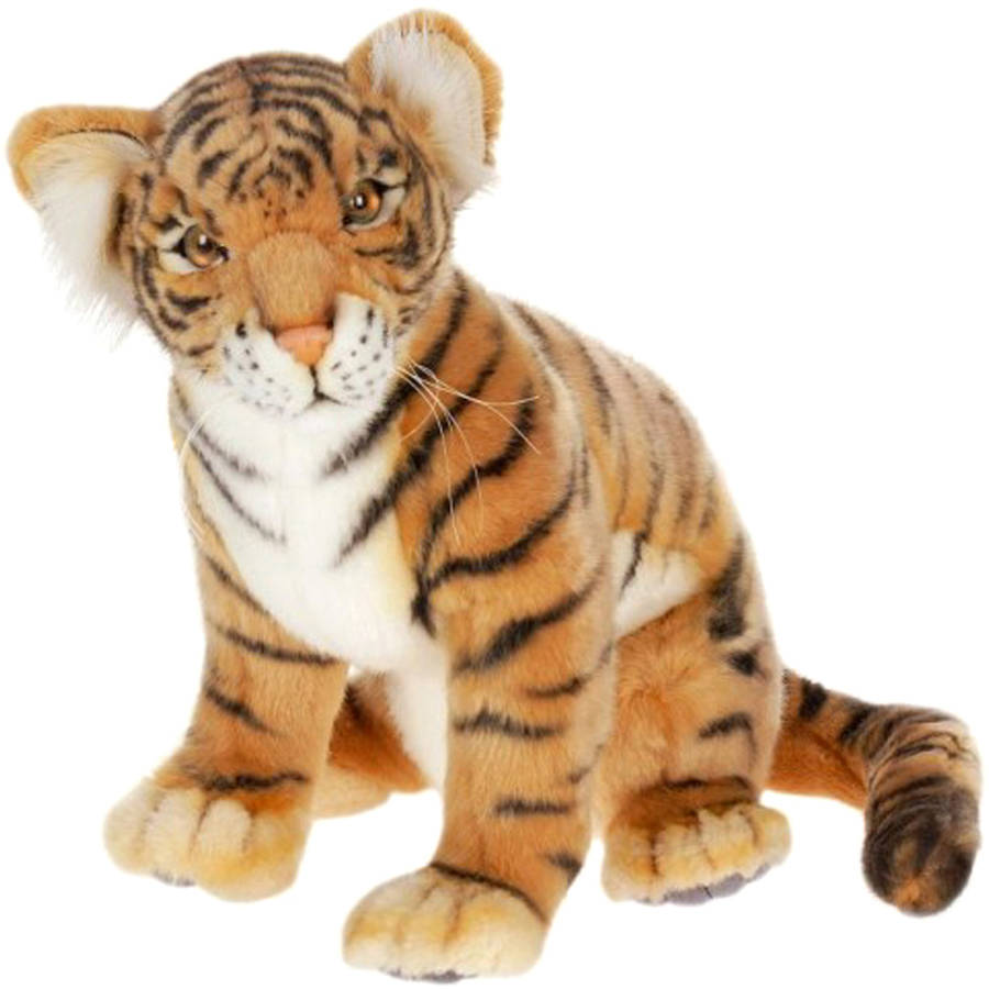 Hansa Sitting Tiger Cub Plush Toy