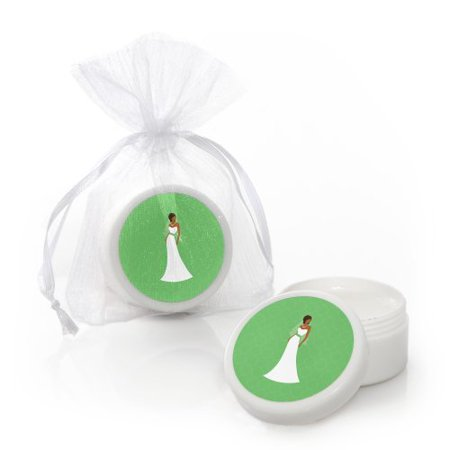 bride green bridal shower lip balms party favors set of 12
