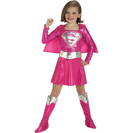 Heroes And Villains Costume (Morris Costumes Girls Superheroes & Villains Supergirl 8-10, Style)