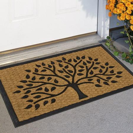 Mainstays Tree Rubber Coir Doormat 17.5