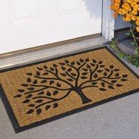 """Mainstays Tree Rubber Coir Doormat 17.5"""" x 29.5"""""""