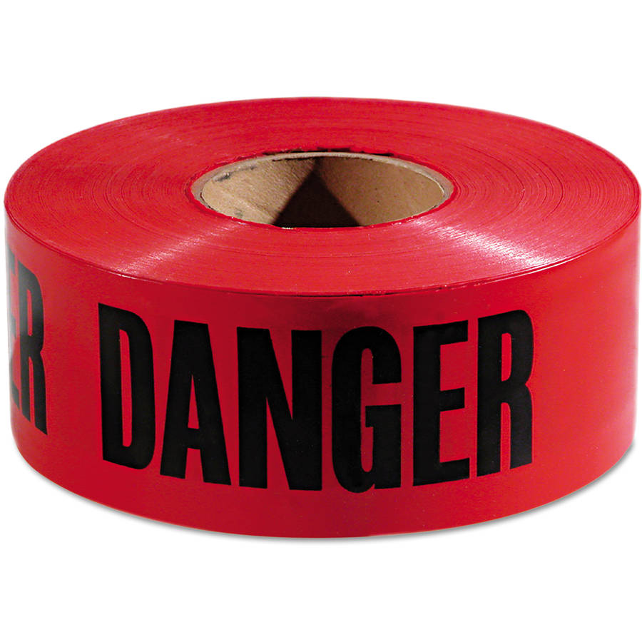 "Empire Danger Barricade Tape, 3"" x 1000', Red/Black"