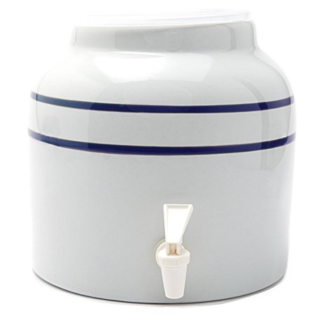 Goldwell Enterprises Inc DS171 2-1/2 Gal Blue Stripe Porcelain Water Dispenser (Ceramic Water Dispenser)