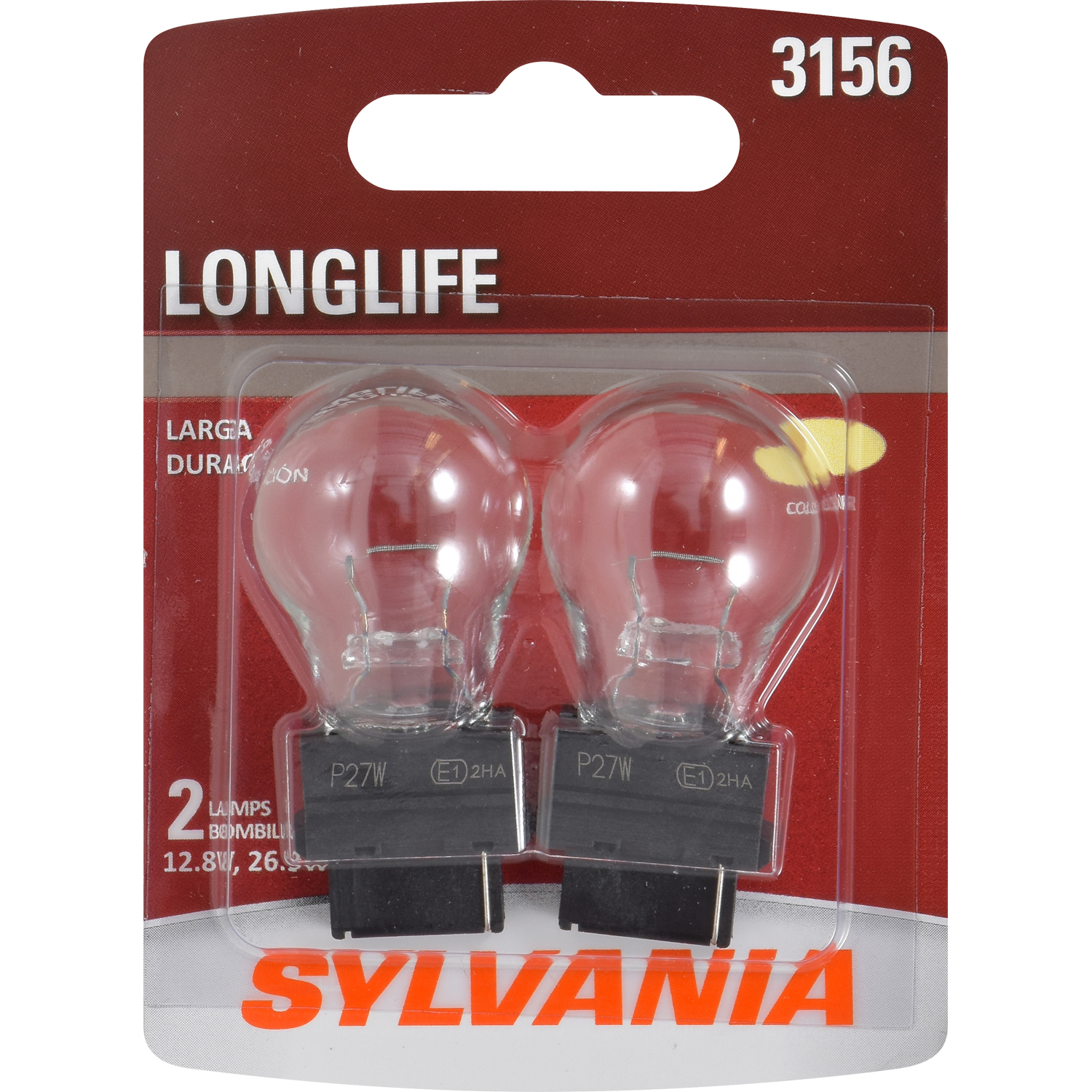 SYLVANIA 3156 Long Life Mini Bulb, Pack of 2