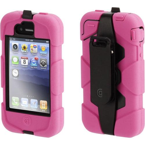 Griffin Technology Survivor Extreme-Duty Case and Belt Clip iPhone 4, Pink
