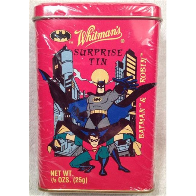 RDB Holdings & Consulting CTBL-021367 Whitmans 1997 Batman & Robin Surprise Tin with Candy, Sticker & Figure Factory Sealed - image 1 of 1