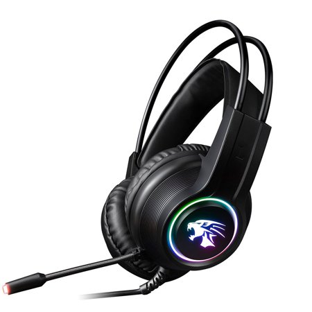 V9000 Computer Gaming Headphone With Microphone Internet Cafe Wired Headset - image 6 de 10