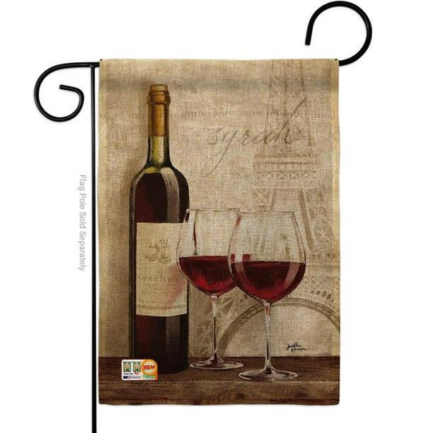 Breeze Decor Bd Wi G 117051 Ip Db D Us18 Wa 13 X 18 5 In Wine In Paris Burlap Happy Hour Drinks Impressions Decorative Vertical Double Sided Garden Flag Walmart Com Walmart Com