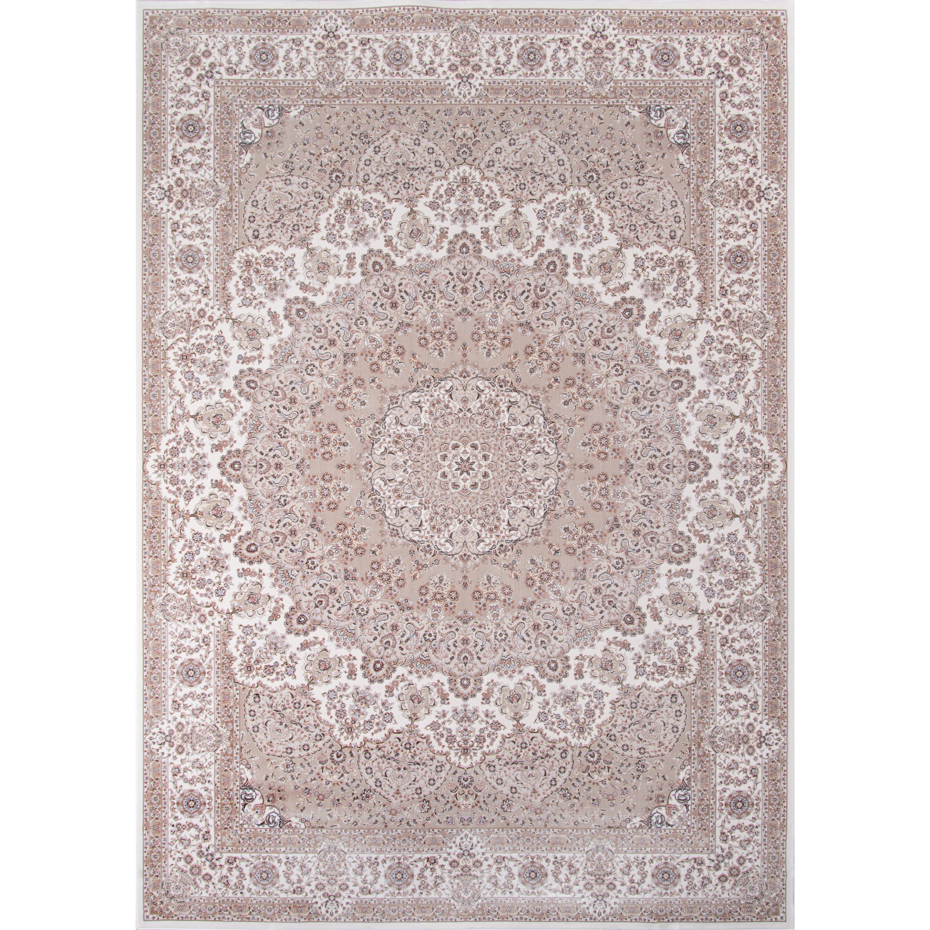 Momeni Antiquity Scallop Medallion Medallion Ivory Fine Area Rug (6'7 x 9'10) by Overstock