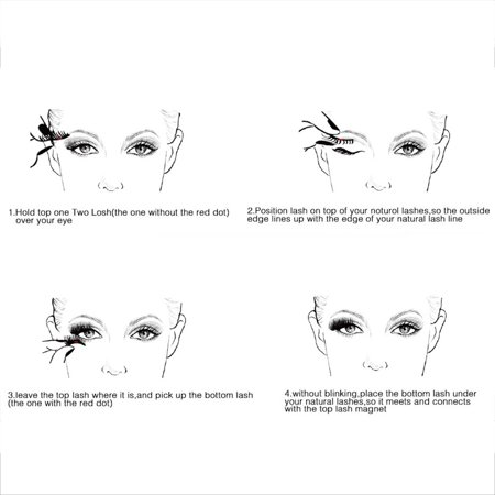 2Pair/4Pcs Magnetic Lashes 3D Magnet Eyelashes Ultra Thin Reusable Fake Eyelashes Extension with Tweezer No Glue Needed (Best Way To Clean Glue Off False Eyelashes)