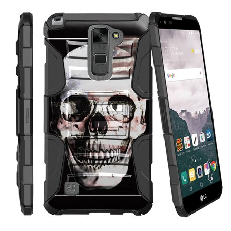 newest 526b4 715e7 LG G Stylo 2 Case   LG Stylus 2 Case   LG LS775 Case [ Armor Reloaded ]  Heavy Duty Rugged Phone Case with Holster + Kickstand - Skull USA