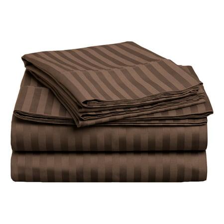 100% Combed Cotton Sheet Set & Duvet Cover Set & Pillowcases, 400TC, Striped ()