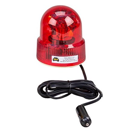 Wolo (3110-R) Beacon Light Rotating Emergency Warning Light - 12 Volt, Red Lens - Red Police Beacon