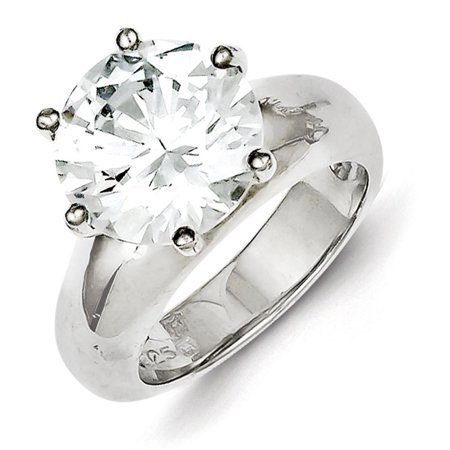 Sterling Silver Solitaire Round CZ Ring (Best Solitaire Rings India)