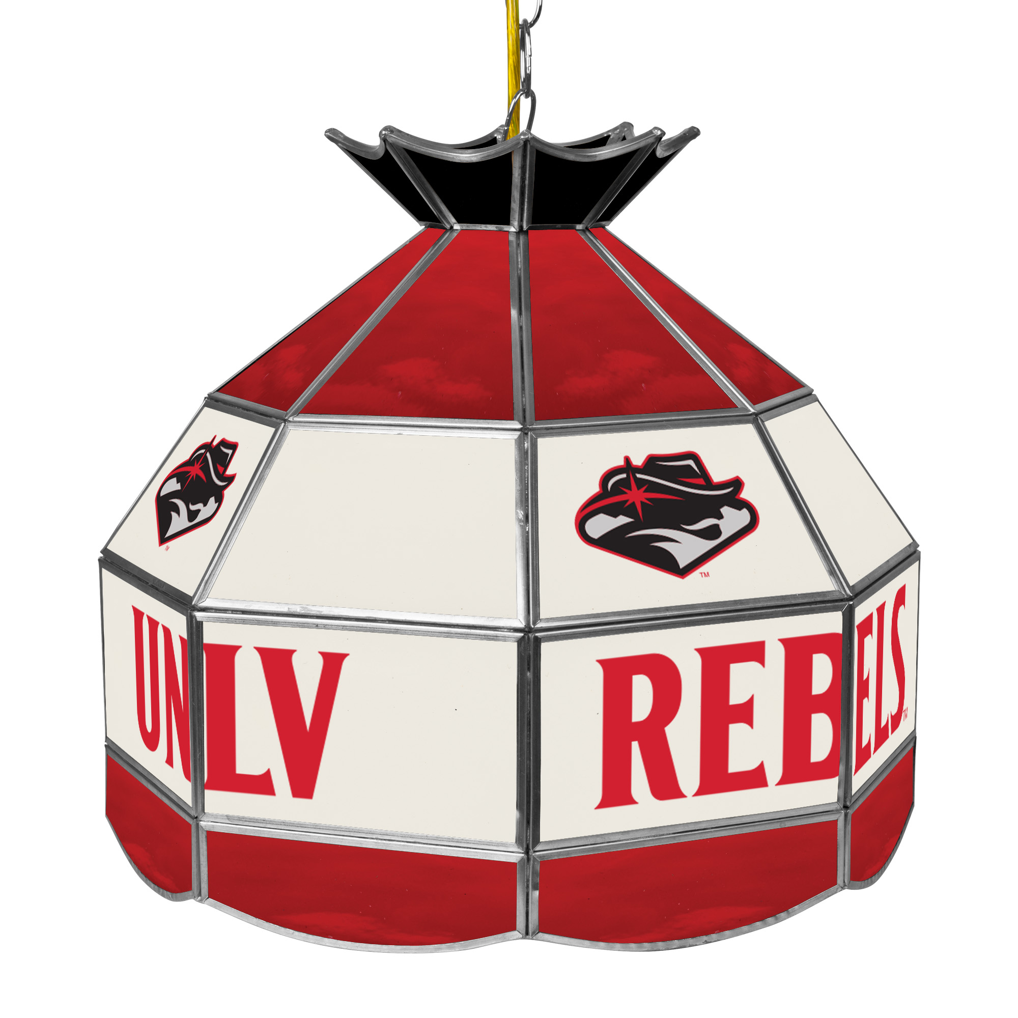 """Trademark Global UNLV 16"""" Stained Glass Tiffany Lamp Light Fixture"""