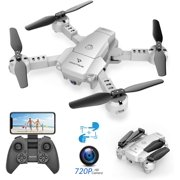 SNAPTAIN A10 Mini Foldable Drone with 720P HD Camera FPV Wifi RC Quadcopter /Voice Control, Gesture Control, Trajectory Flight, Circle Fly, High-Speed Rotation, 3D Flips, G-Sensor, Headless Mode