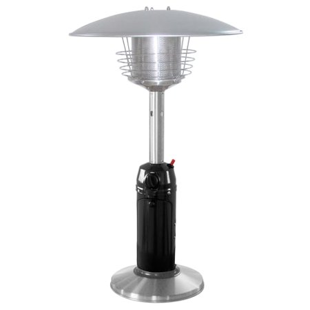 Outdoor Heater - Hiland Portable Black and Stainless Steel Patio Heater