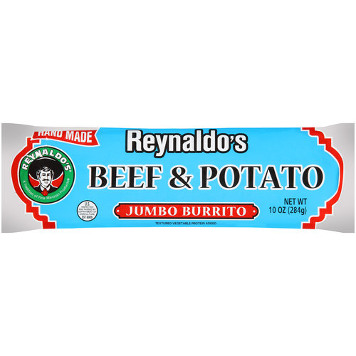 Reynaldo's Beef & Potato Jumbo Burrito, 10 oz