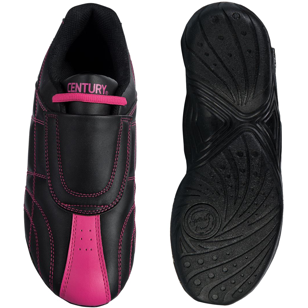 Century Lightfoot Martial Arts Sparring Shoes - Black/Pink