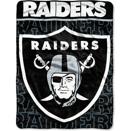 Nfl Oakland Raiders 46  X 60  Micro Raschel Throw