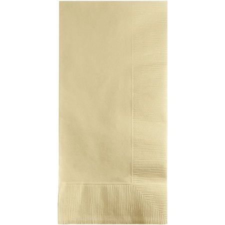 Touch of Color Dinner Napkins, 2-Ply, 1/8 Fold, Ivory, 50 Ct ()
