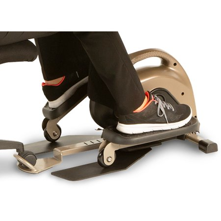 EXERPEUTIC 900E EXERWORK No Impact Bluetooth Smart Cloud Fitness Under Desk Elliptical with Extendable Chair Hook and Free App ()